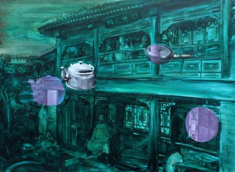 o.T.(2)   2013  Öl auf Leinwand   50x70cm